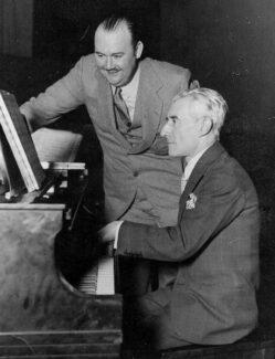 Морис Равель и Пол Уайтман, джазовый музыкант.