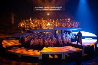 «Калевальцы в Похъёле» – мировая оперная премьера. Фото - Сейло Ристимяки