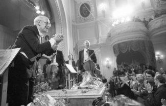 Мстислав Ростропович, 1990 год. Фото - Александр Чумичев/ТАСС