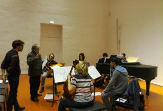На репетиции. Фото - Boulez Ensemble
