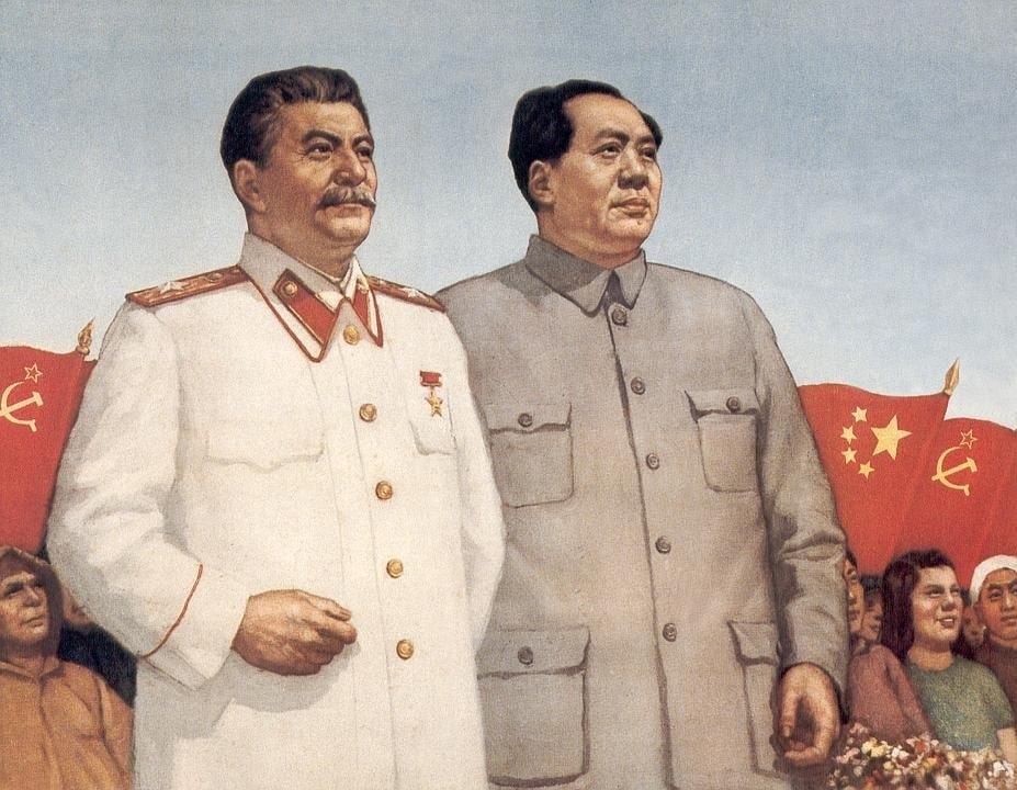Сталин и Мао Цзэдун – пропагандистский плакат