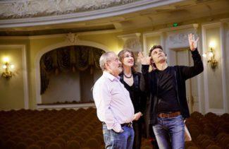 С Йонасом Кауфманом в Большом зале консерватории. Фото - ART-BRAND Artist Management/Ira Polyarnaya