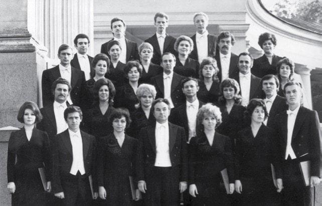 Первый состав камерного хора п/у Минина, 1972 год