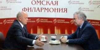 Виктор Назаров и Валерий Гергиев. Фото - omskportal.ru