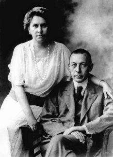 Сергей Васильевич Рахманинов с женой Натальей Сатиной, 1925 год, США. Фото - фонд ВМОМК им. Глинки