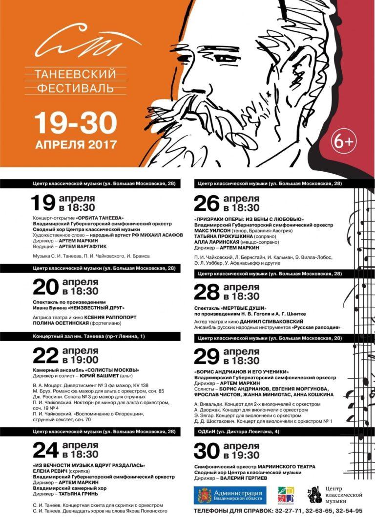 Концерт-закрытие II Танеевского фестиваля