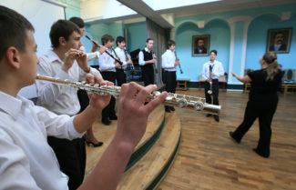 В Москве пройдёт смотр детских духовых оркестров. Фот - Валерий Шарифулин