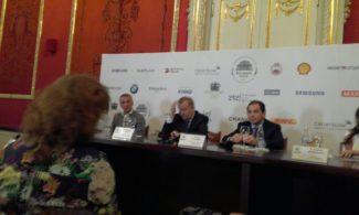 Махар Вазиев, Владимир Урин и Туган Сохиев на пресс-конференции