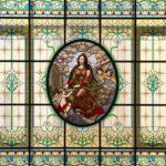 Восстановленный витраж «Святая Цецилия» с изображением покровительницы музыки