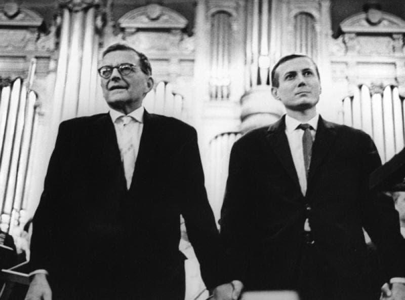 Дмитрий Шостакович и Евгений Евтушенко, БЗК. Фото - Виктор Ахломов