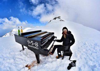 Пианистка и альпинистка Элиза Томеллини добралась до вершины