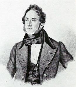 Катарино Кавос. Литография К. Поля с портрета Осокина, 1820-е годы