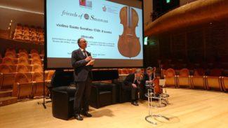 Презентация и торжественная передача российской стороне отреставрированной скрипки мастера Санто Серафина