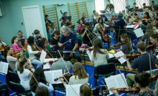 Сводный симфонический оркестр «Летней школы» под управлением М. С. Хохлова