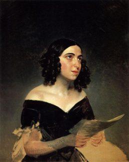 Анна Яковлевна Воробьёва-Петрова, портрет работы Карла Брюллова