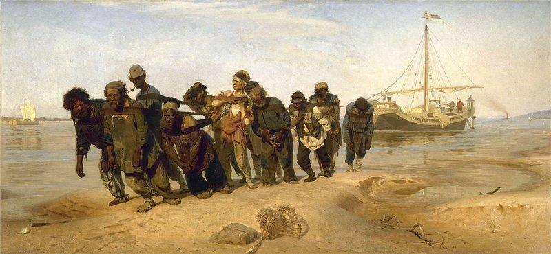 Илья Ефимович Репин - «Бурлаки на Волге», 1870 - 1873 годы