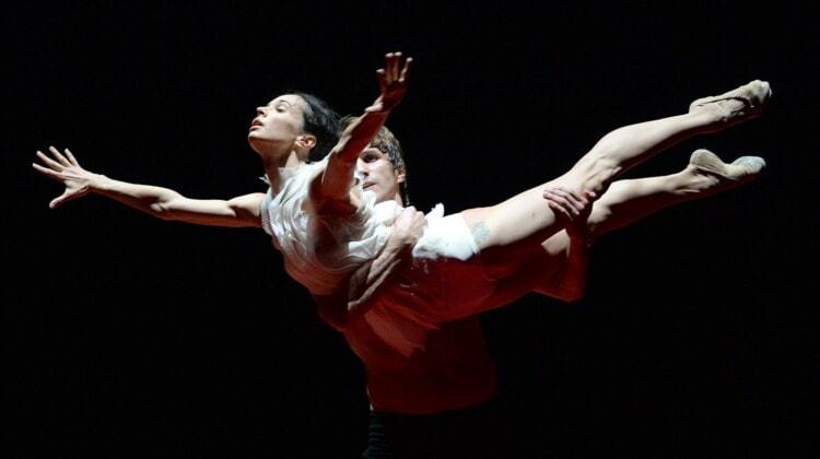 Диана Вишнева и Андрей Меркурьев в сцене из балета «Объект перемен». Фото - Владимир Вяткин