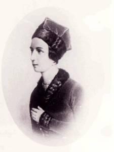 Анна Воробьева в роли Вани. Литография А. Умнова по рисунку В. Тимма, 1840-е годы