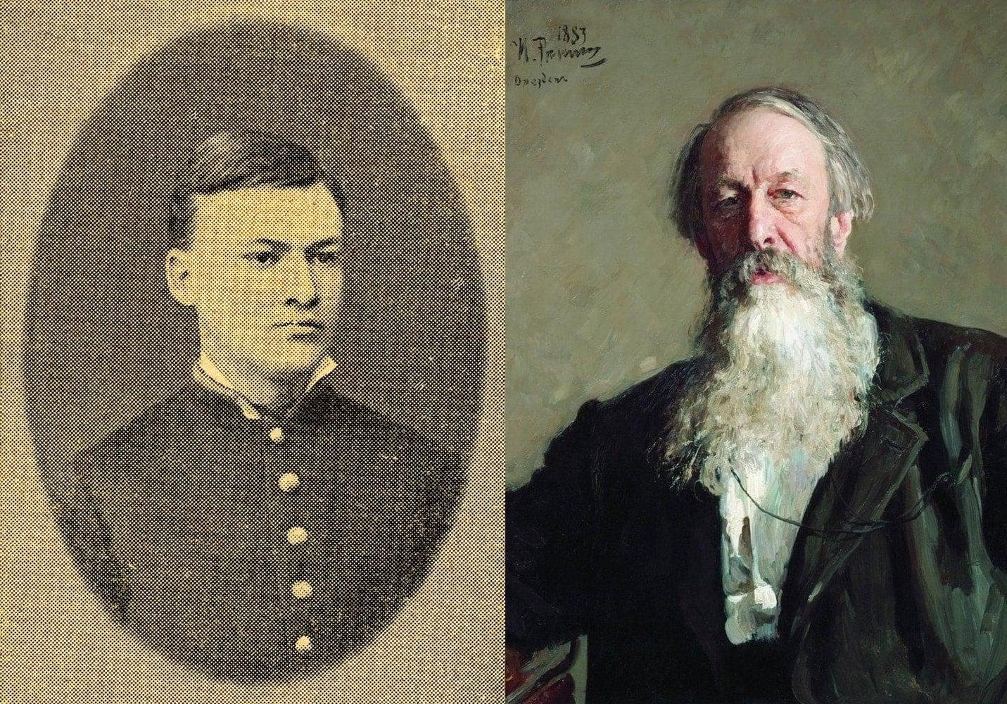 Саша Глазунов и В. В. Стасов