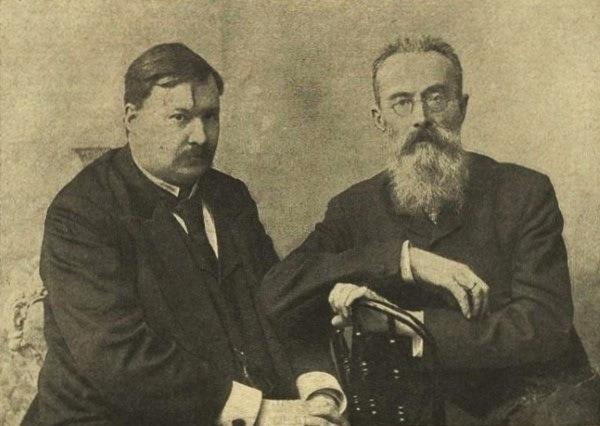 А. К. Глазунов и Н. А. Римский-Корсаков