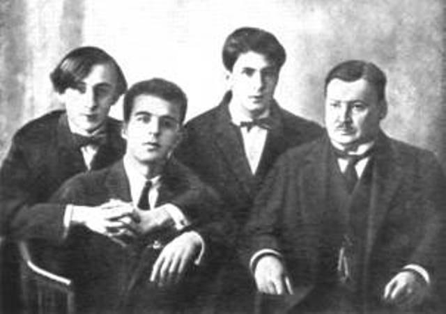 В. Горовиц, П. Коган, Н. Мильштейн и А. К. Глазунов