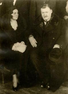 О. Н. Глазунова, супруга А. К. Глазунова, впоследствии монахиня Александра, и А. К. Глазунов в эмиграции