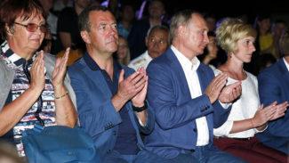 Путин и Медведев посетили фестиваль «Опера в Херсонесе». Фото: - Дмитрий Астахов/ РИА Новости