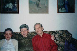 Марина Сабинина, Александр Селицкий, Гриорий Фрид. 1997 год.