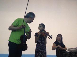 В работе мастер-классов примут участие Александр Тростянский (скрипка) и Наталья Ардашева (фортепиано)