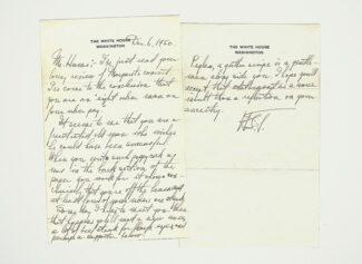 Письмо Гарри Тумана Полу Хьюму. Оригинал хранится в библиотеке Harlan Crow Library