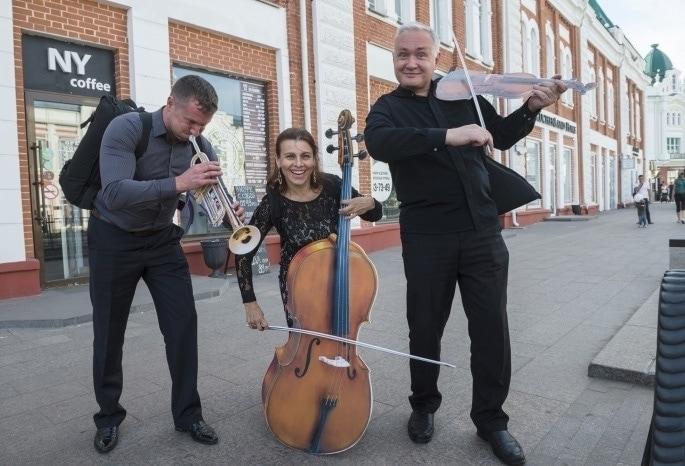Музыканты Омской филармонии выступили в китайской синагоге. Фото - Омская филармония