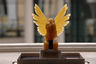 """ОбладательницейГран-при """"Органного ангела"""", изготовленного из янтаря, и первой премии стала органистка из ВенгрииЗита Науратилл"""