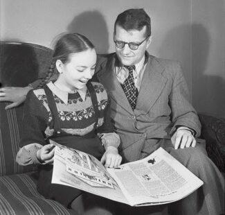 Дмитрий Шостакович с дочерью, 1955 год
