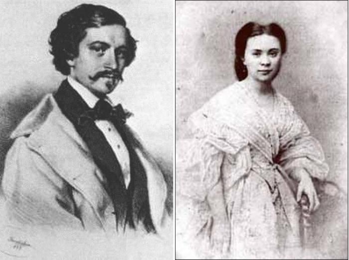 Иоганн Штраус и Ольга Смирнитская