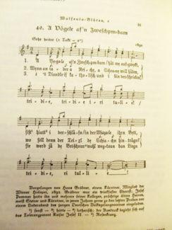 Ноты каринтийской песенки про Миацеле, которую Берг использовал в своем Скрипичном концерте