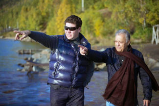 С дирижером Зубином Метой на Байкале. Фото - Евгений Евтюхов