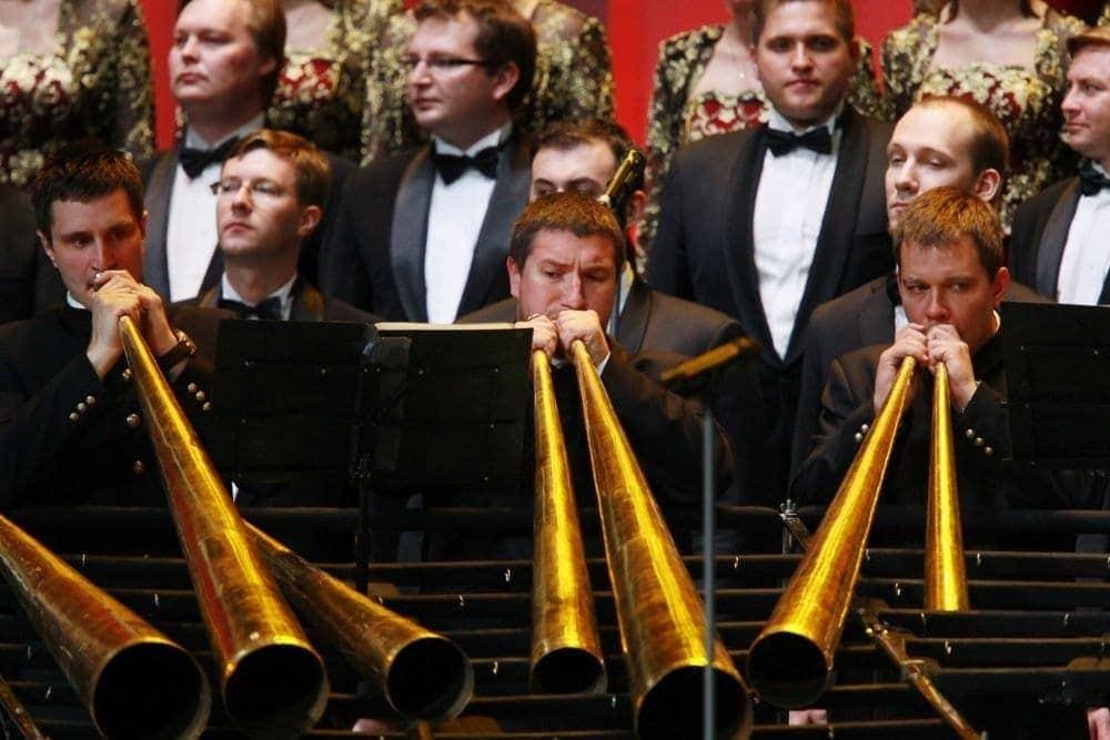 Российский роговой оркестр. Фото - Виталий Белоусов/ РИА Новости