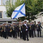 Военный оркестр из Петербурга выступил в швейцарских Альпах