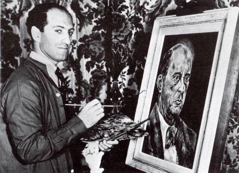 Гершвин рисует Шенберга