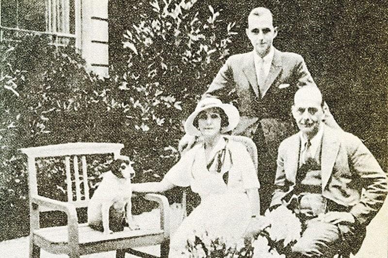 Кшесинская с мужем Андреем Владимировичем и сыном Владимиром в Париже