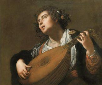 "Артемизия Джентилески - ""Женщина, играющая на лютне"", 1628 год"