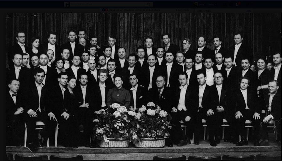 Государственный симфонический оркестр БССР с победителем 1-го Международного конкурса им. П. И. Чайковского Ваном Клиберном, 7 мая 1958 года