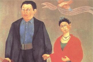 Фрида Кало - Фрида и Диего Ривера (фрагмент), 1931 год. Фото - San Francisco Museum of Modern Art