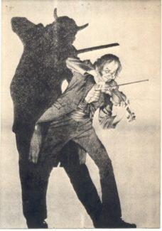 Карикатура на Никколо Паганини