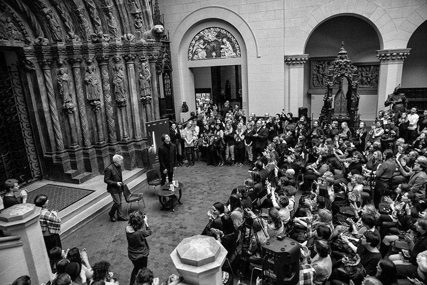 Леонид Десятников и Теодор Курентзис: встреча со зрителями. Фото - Александра Муравьёва