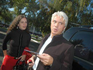 Флоранс и Дмитрий Хворостовские. Фото - Евгений Кармаев