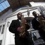Духовой оркестр выступил на Киевском вокзале на проекте «Музыка на вокзалах» Фото - Анна Иванцова