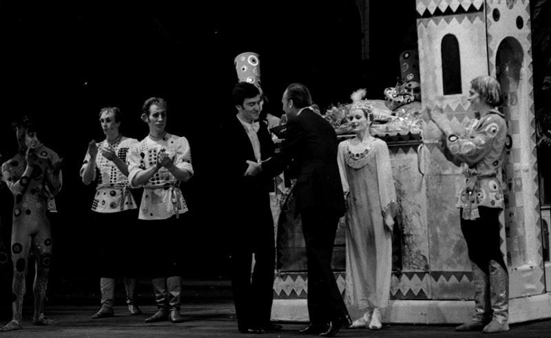 Валерий Гергиев и Родион Щедрин после премьеры спектакля. 29 апреля 1981 года