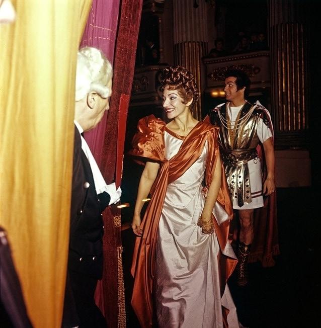 Мария Каллас в роли Паолины («Полиевкт», театр Ла Скала), 1960 год. Фото - Fonds de Dotation Maria Callas