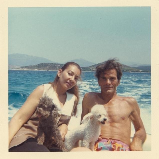На отдыхе с Пьером Паоло Пазолини, 1969 год. Фото - Fonds de Dotation Maria Callas